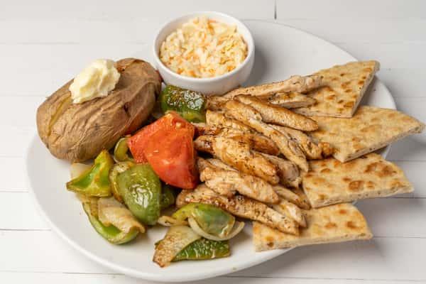 *Chicken Kabob Plate