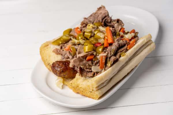Beef combo sandwich