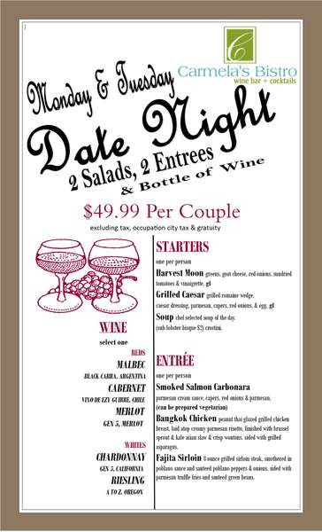 Date Night! Two for $49.99