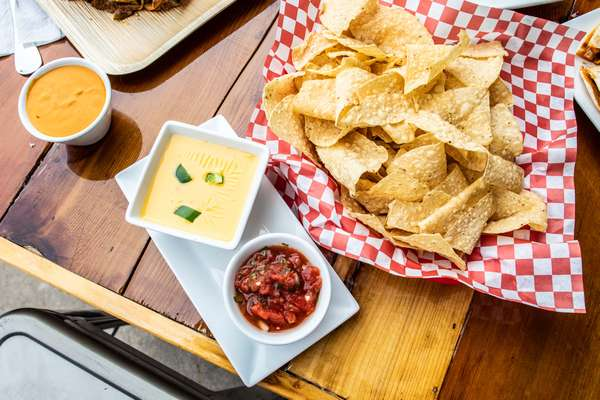 Chile Con Queso with chips