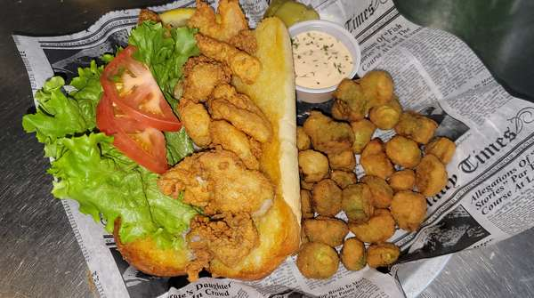 Fried Beer Batter Cod Po Boy