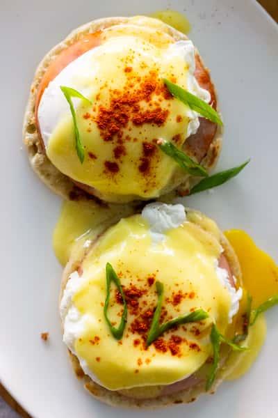 Eggs Benedict | Ham, Poached Egg, English Muffin, Hollandaise
