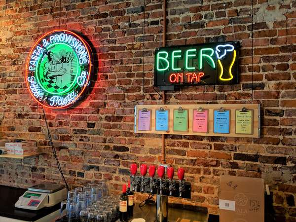 Beer on tap at Mint St.