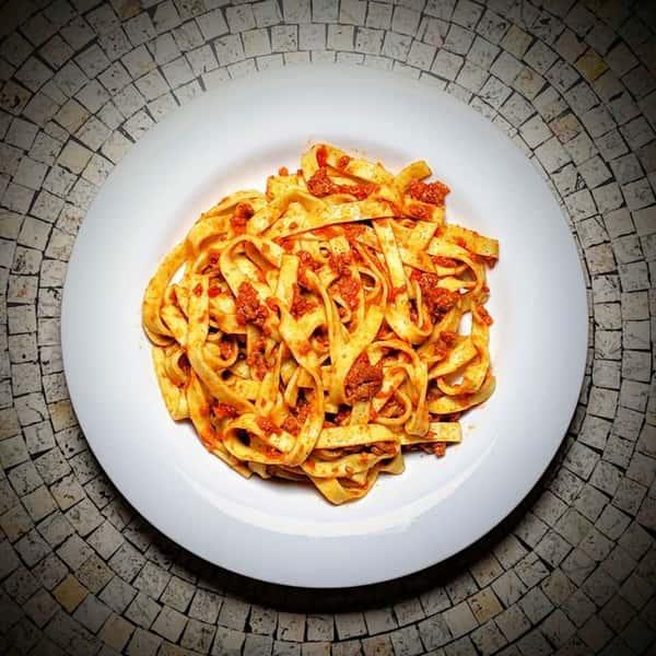 pasta and marinara