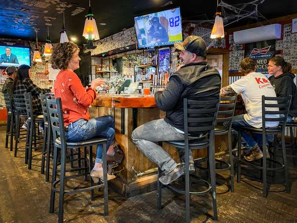 Patrons at bar