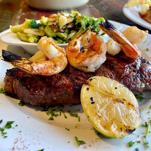 Steak and seafood