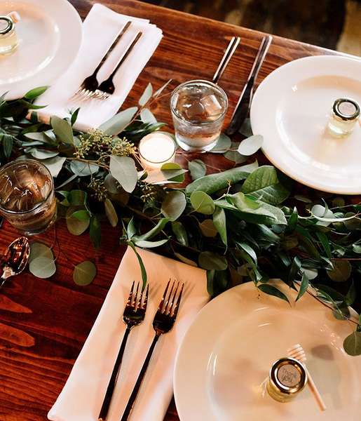 Navasota Bakery table setting