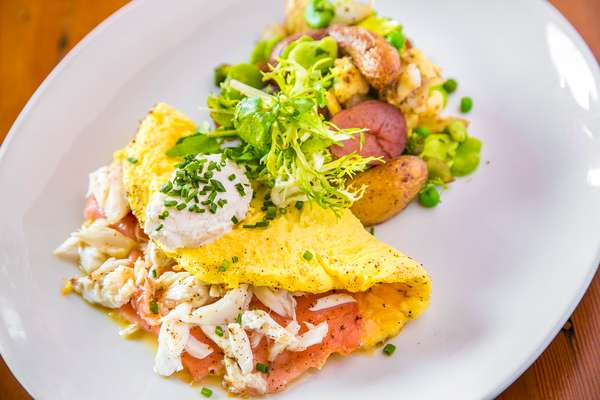 Smoked Salmon & Blue Crab Omelette