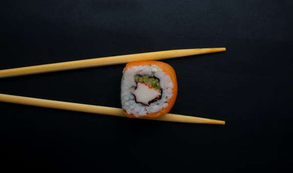 one sushi roll