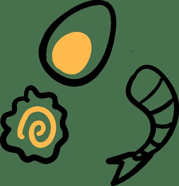 egg shrimp