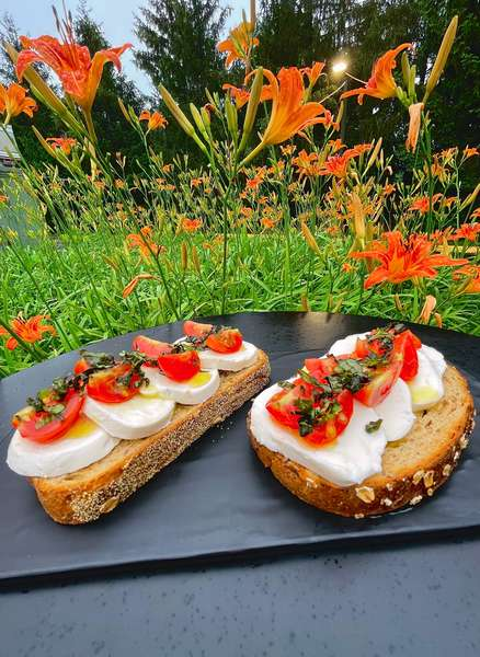 Toast and Fruit