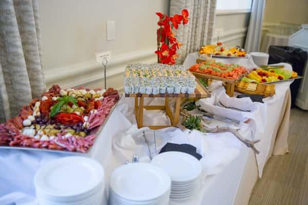 catering setup sushi
