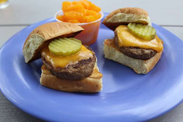 Two Grilled Burger Sliders