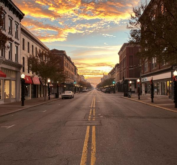 Sunrise on Broughton Street