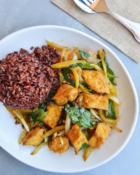 Organic Tofu with Basil
