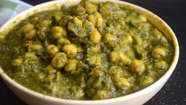 83. Spinach/Palak Chana Masala