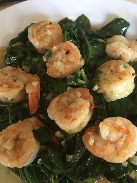 130. Spinach Shrimp