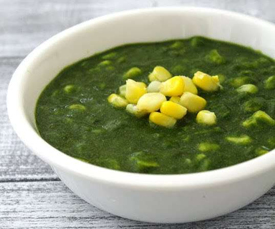 86. Spinach Palak Corn