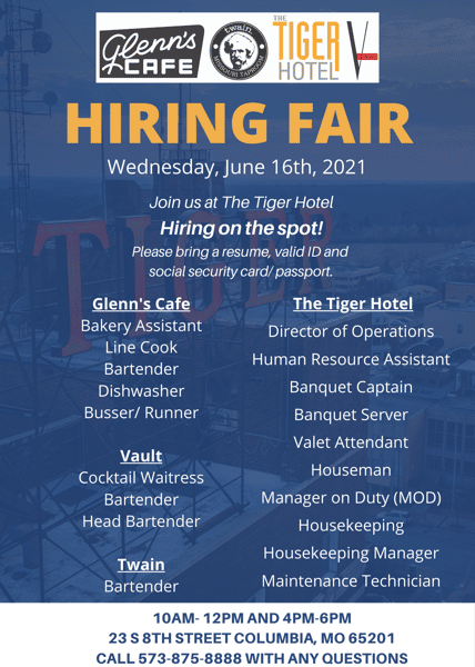 Looking to join our team? Join us Wednesday June 16th for our hiring fair!