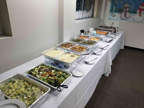 catered holiday dinner