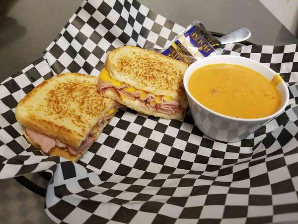 Thursday - Grilled Ham and Cheese with Tomato Basil Soup