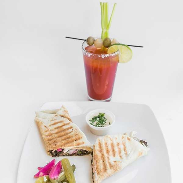 bloody mary and wrap