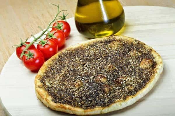 Lebanese Thyme Pizza (Manakish Zaatar)