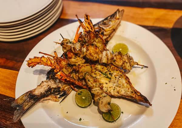 Grilled Seafood Platter (Serves 2)