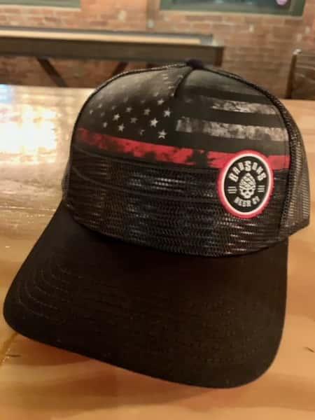 Red & Black Flag Snapback Hat