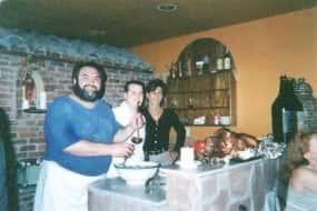 mario at table