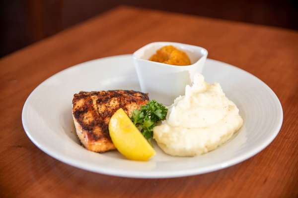 Char-Grilled Salmon