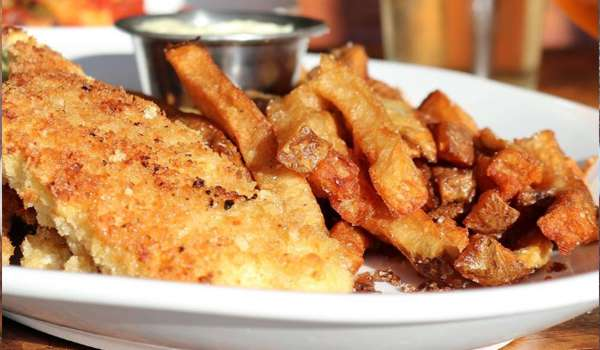 """Baked """"Fish and Chips"""""""
