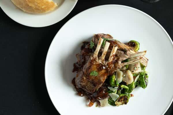Pan roasted lamb chops