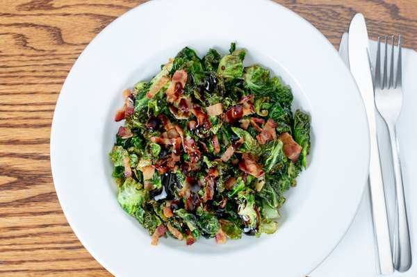 Crispy Brussel Sprout Leaves