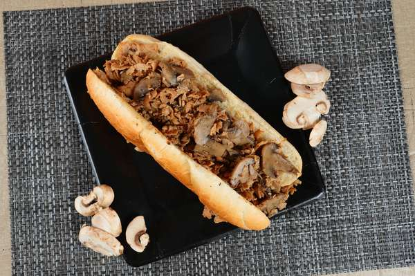 4. Mushroom Cheesesteak