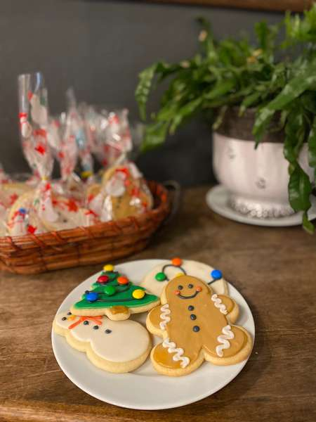 1 Dozen Decorated Holiday sugar cookies