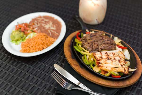 Grilled Steak & Chicken Fajitas