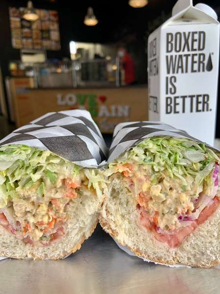 "Chickpea ""tuna"" sandwich"