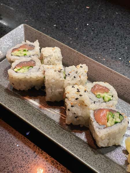 Salmon with Cucumber Roll*