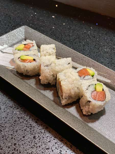 Salmon with Avocado Roll*