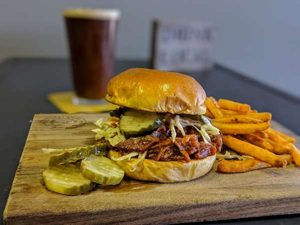 Burger and Fries and Brew