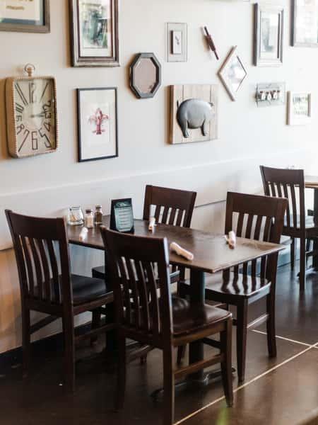 interior seating and wall decor
