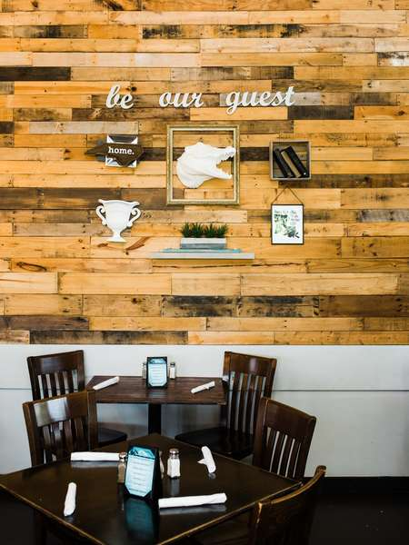 interior dining and wall decor