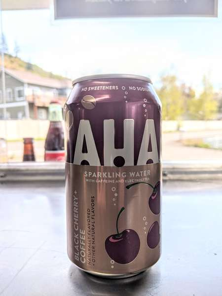 sparkling flavored water (AHA)