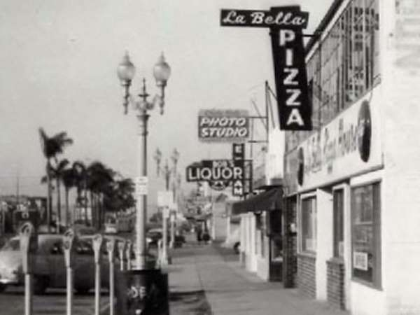 La Bella old sign and street