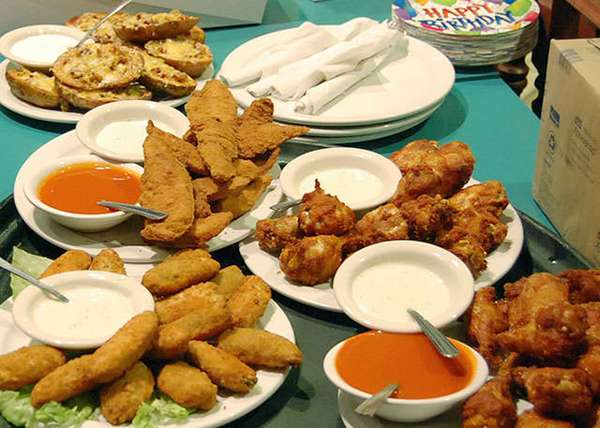several appetizers on a table