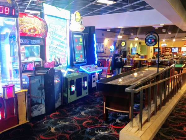 shuffleboard table and other arcade games