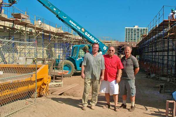 La Bella employees at a construction site