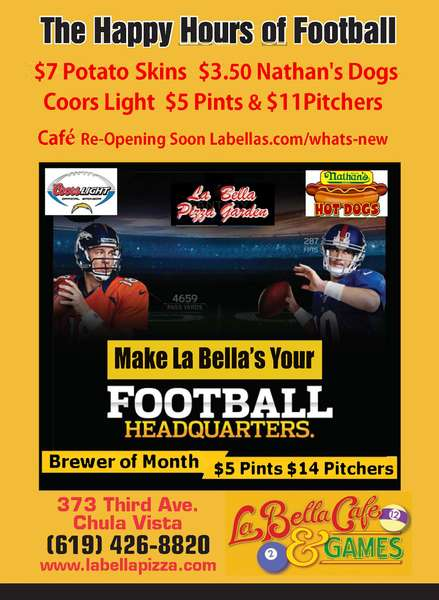 Football 3.50 Nathan Dogs $5 Coors Light Pints $11 Pitchers