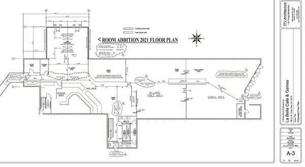 Blue Print Drawing of Cafe 1k expansion
